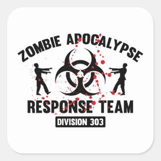 Zombie Apocalypse Response Team Square Sticker