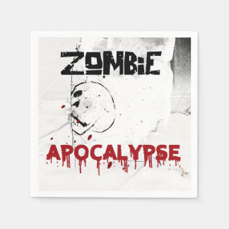 Zombie apocalypse theme party disposable napkins