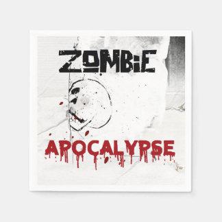 Zombie apocalypse theme party paper napkin