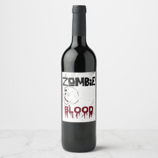 Zombie apocalypse theme party wine label