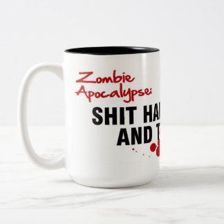 ZOMBIE APOCALYPSE Two-Tone COFFEE MUG