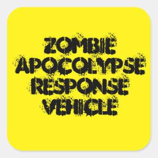 Zombie Apocolypse Response Vehicle Square Sticker