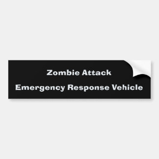 Zombie Attack BumperSticker Bumper Sticker