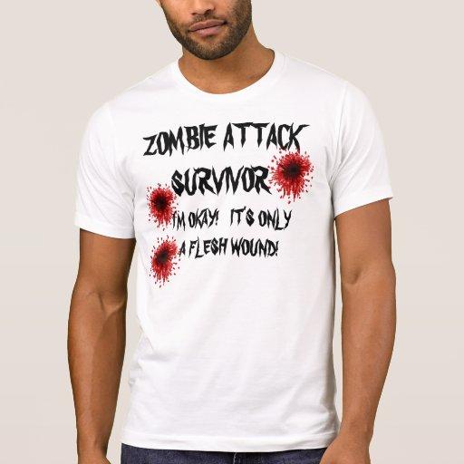ZOMBIE ATTACK SURVIVOR TEE SHIRT
