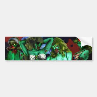 Zombie Babes Bumper Sticker