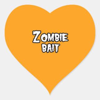 ZOMBIE BAIT - - Halloween Heart Sticker