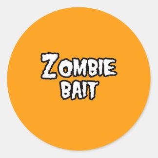 ZOMBIE BAIT - - Halloween Stickers