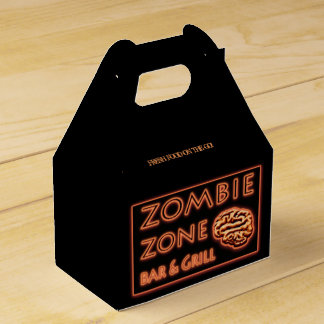 Zombie Bar N Grill FOOD ON THE GO! Halloween! Favor Boxes