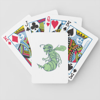 Zombie Bee Cartoon Bicycle Playing Cards