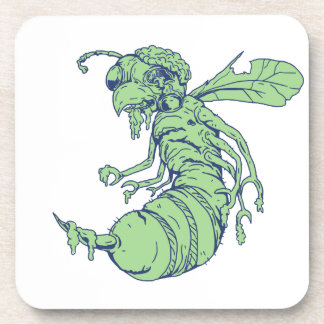 Zombie Bee Cartoon Coaster