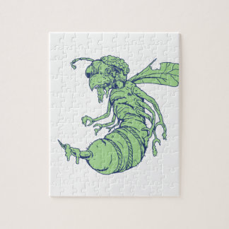 Zombie Bee Cartoon Jigsaw Puzzle