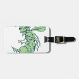 Zombie Bee Cartoon Luggage Tag