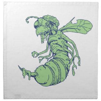 Zombie Bee Cartoon Napkin