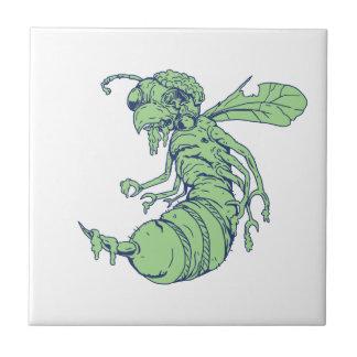 Zombie Bee Cartoon Tile