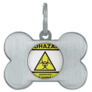 Zombie Biohazard Sign Pet Tags
