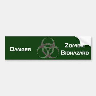 Zombie Biohazard Symbol Bumper Sticker