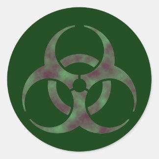 Zombie Biohazard Symbol Sticker