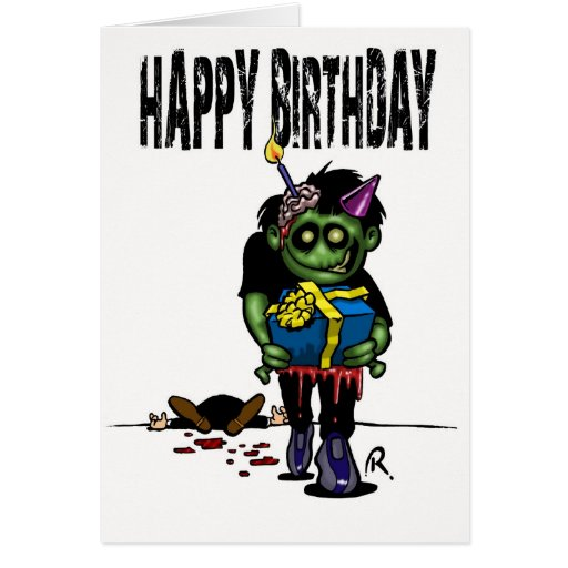 Zombie birthday card zazzle