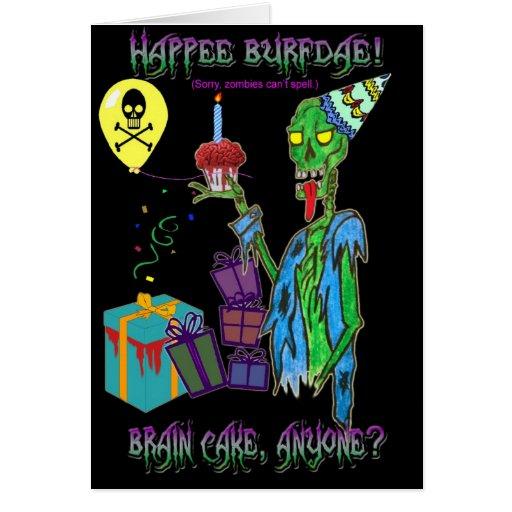 Zombie birthday card blank zazzle