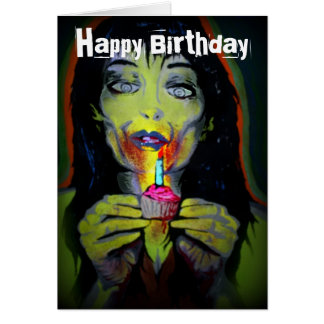 'Zombie Birthday Girl' Birthday Card
