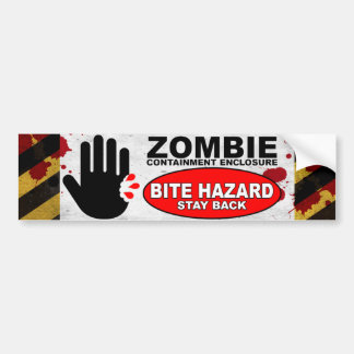 Zombie Bite Hazard Bumper Sticker
