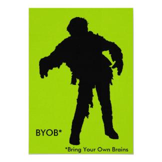 Zombie Black Silhouette Card
