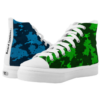 Zombie Blue And Green Camouflage HighTops High Tops