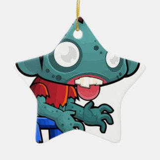 Zombie Boy Comic Ceramic Ornament