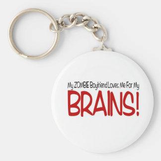 Zombie Boyfriend Loves Me For My Brains Keychain