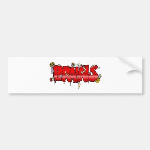 Zombie BRAINS Bumper Stickers