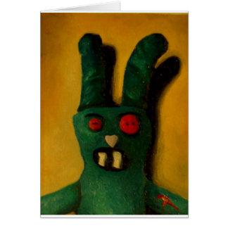 Zombie Bunny Card