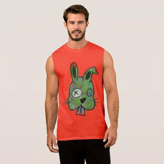 """Zombie Bunny"" Men's Ultra Cotton Sleeveless Tee"