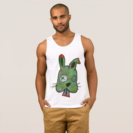 """Zombie Bunny"" Men's Ultra Cotton Tank Top"
