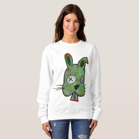 """""""Zombie Bunny"""" Women's Basic Sweatshirt"""