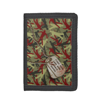Zombie Camo w/ Dog Tags Tri-fold Wallet