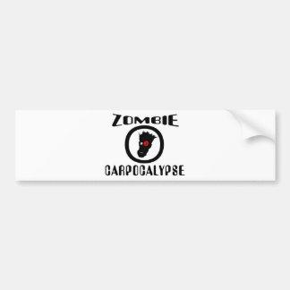 Zombie Carpocalypse Symbol Bumper Sticker