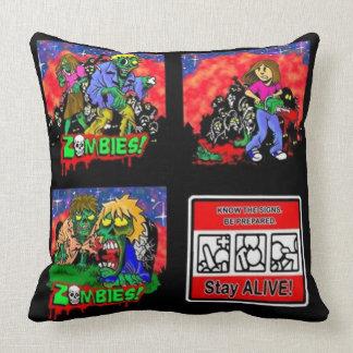 Zombie Cartoon Pattern Throw Pillow