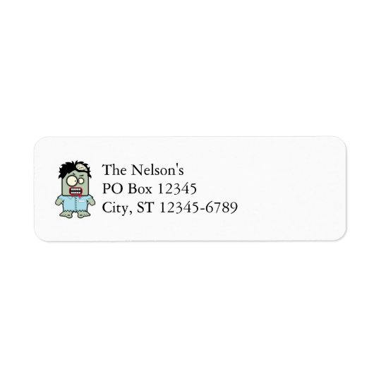 Zombie Cartoon Return Address Label