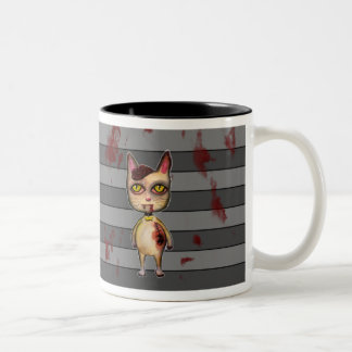 Zombie cat blood splatter mug