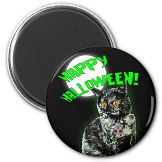 Zombie Cat Happy Halloween Magnet