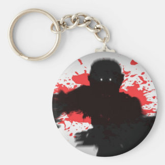 Zombie Charge Basic Round Button Keychain