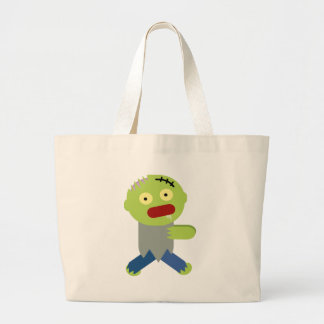 Zombie Chase Large Tote Bag