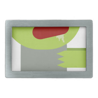 Zombie Chase Rectangular Belt Buckles
