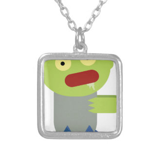 Zombie Chase Silver Plated Necklace