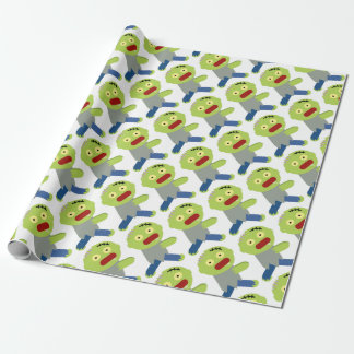 Zombie Chase Wrapping Paper