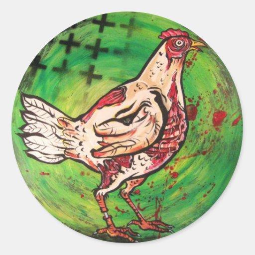 Zombie Chicken Stickers