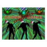 Zombie Christmas Disco Dance Poster