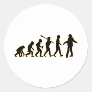 Zombie Classic Round Sticker