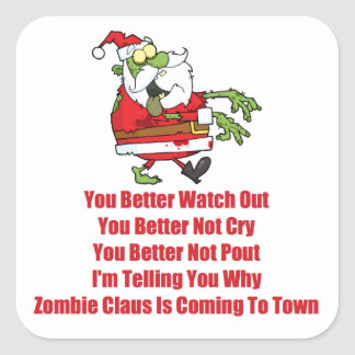 Zombie Claus (green) Stickers
