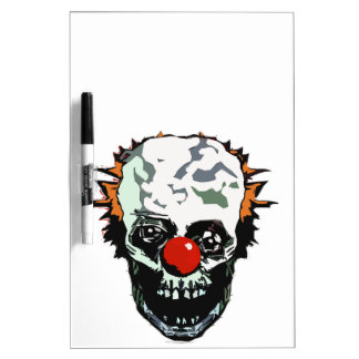 Zombie clown dry erase whiteboards